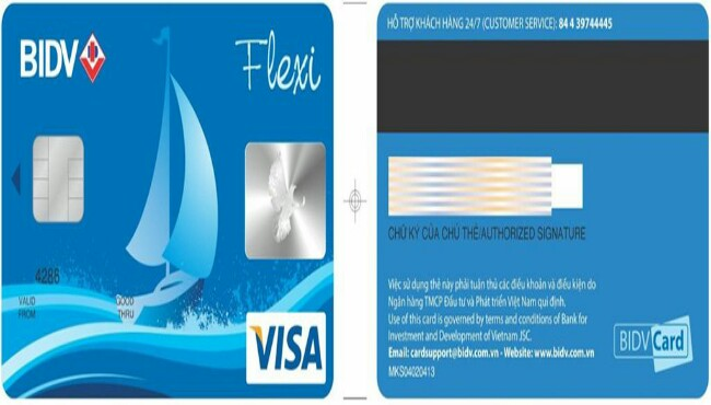 Thẻ Visa BIDV Flexi