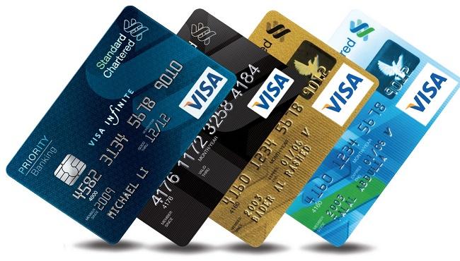Mẫu thẻ Visa Credit Card của ngân hàng Standard Chartered
