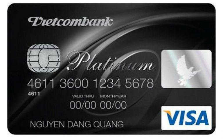 Thẻ Visa Platinum của Vietcombank