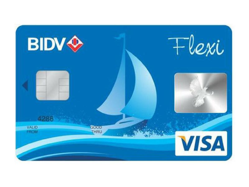 Thẻ Visa BIDV Flexi mẫu do ngân hàng ban hành