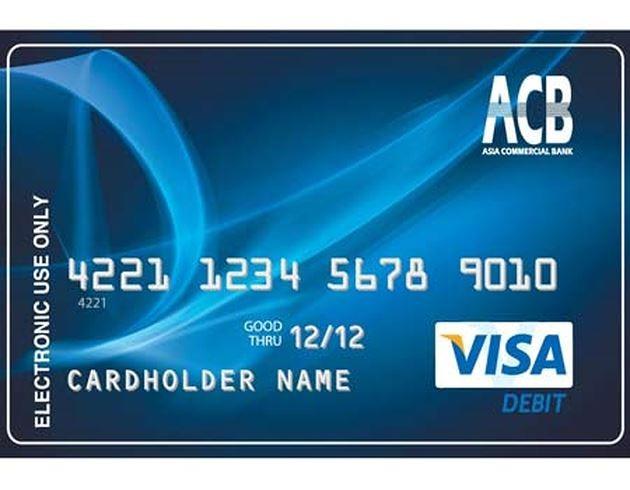 Thẻ Visa Debit ACB